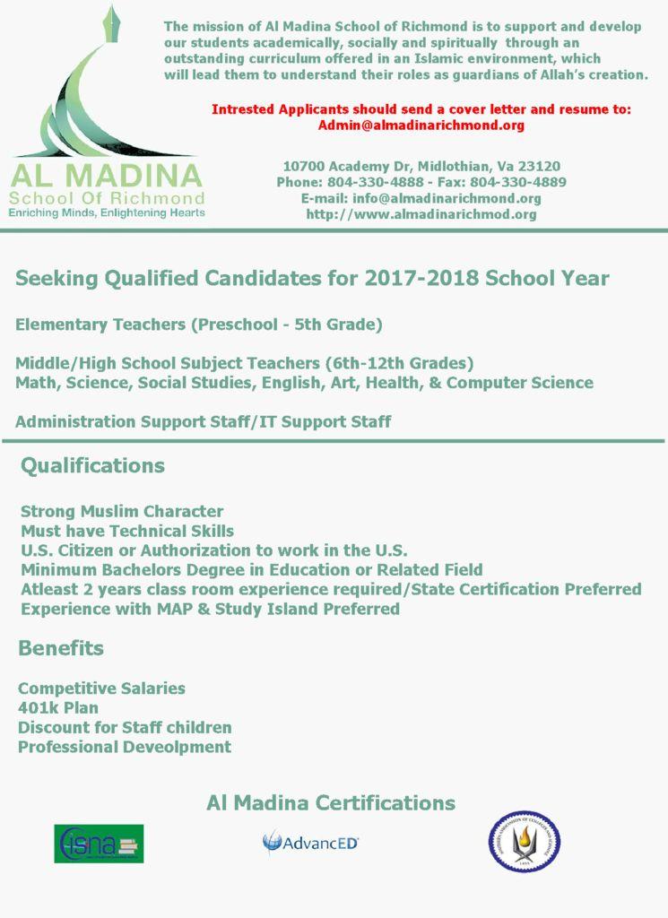 thumbnail of Al Madina School of Richmond in VA – March 2017