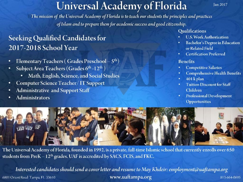 thumbnail of Universal Academy of Florida in FL – Jan 2017