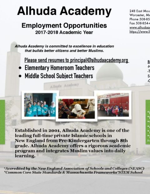 thumbnail of Alhuda Academy Employment Opportunities
