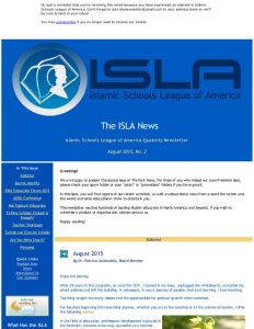 ISLA Newsletter No. 2 - August 2015