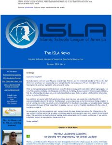 ISLA Newsletter No. 4 - August 2016