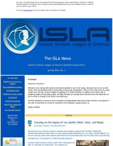 ISLA Newsletter No. 3 - February 2016