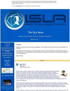 ISLA Newsletter No. 1 - May 2015