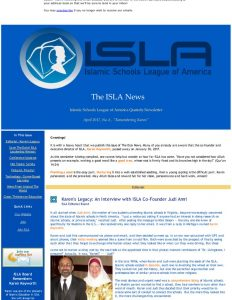 ISLA Newsletter No. 6 - April, 2017
