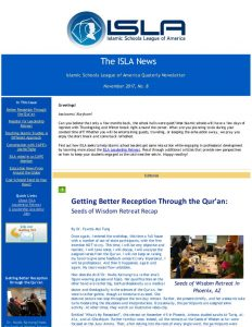 ISLA Newsletter No. 8 - November 2017