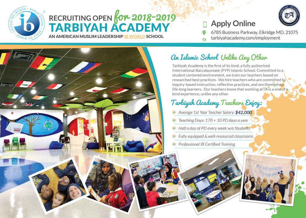 Homeroom & Arabic/Quran/Islamic Studies Teachers (IB PYP)