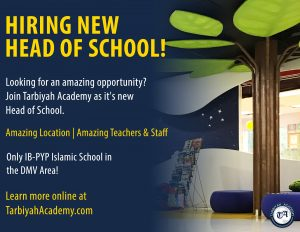 Head of School at Tarbiyah Academy in Maryland