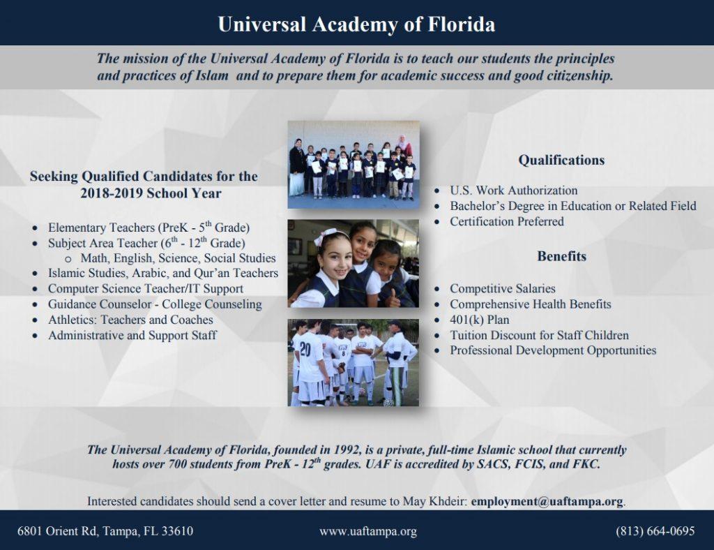 UAF 2018-2019 positions