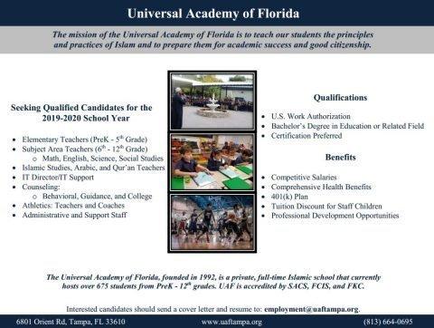 Universal Academy of Fl jobs