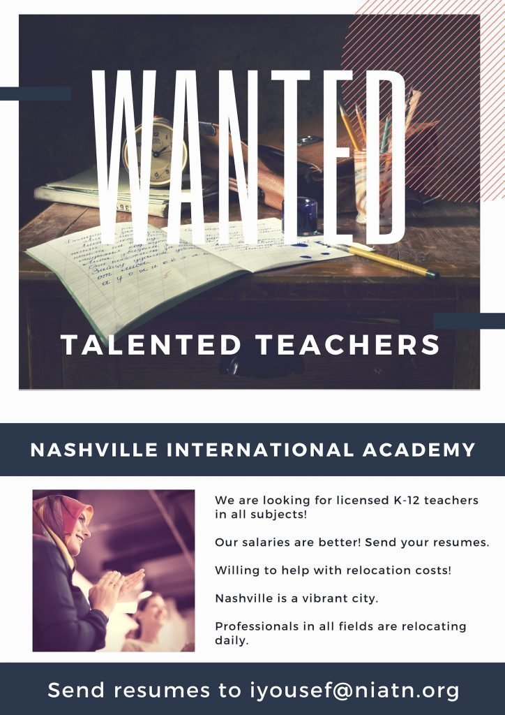 Licensed School Teachers Needed.