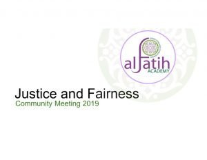 thumbnail of Justice Community Meeting w logo