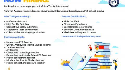 Tarbiyah Academy Job ad