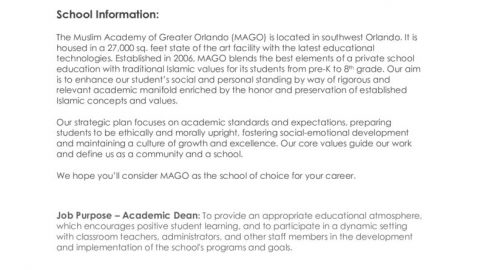 thumbnail of Academic Dean Job Posting