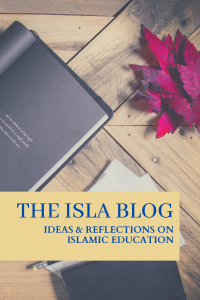ISLA Blog written against background of a journal and red leaf