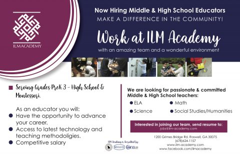 ILM Academy Job Advertisement Flier