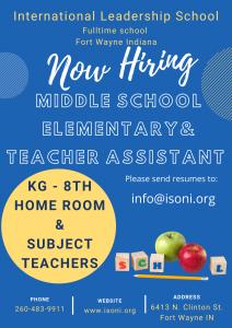 Elementary, Middle School Teachers and Teachers Assistant