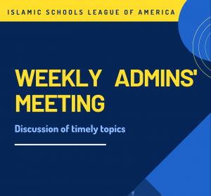 Weekly Admins' Meeting