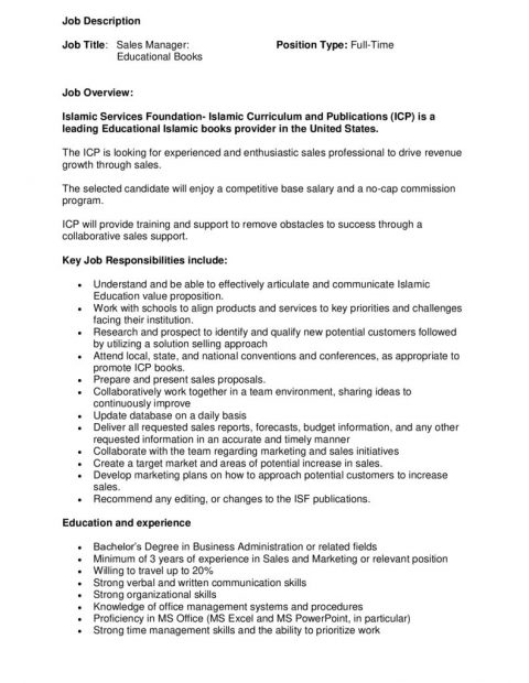 thumbnail of ISF Sales Manager Position