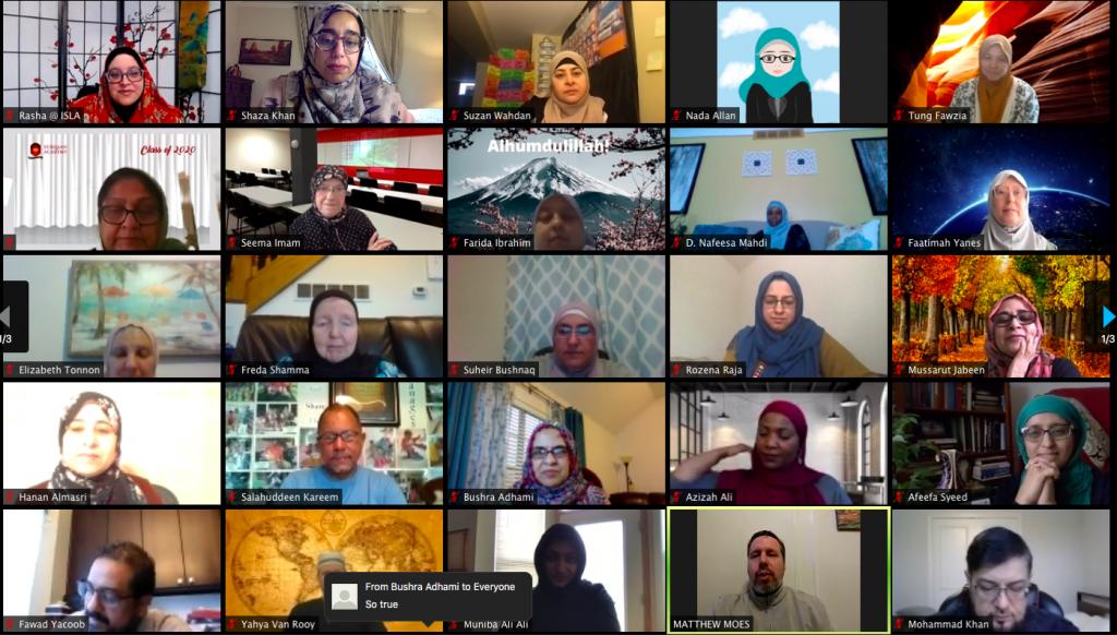 Zoom Screen Shot of participants
