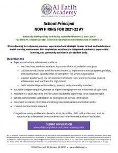thumbnail of AFA Principal Employment Ad 2021