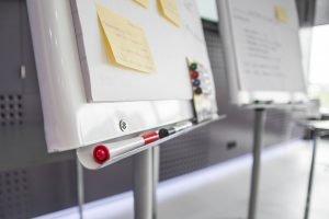 white boards in classroom