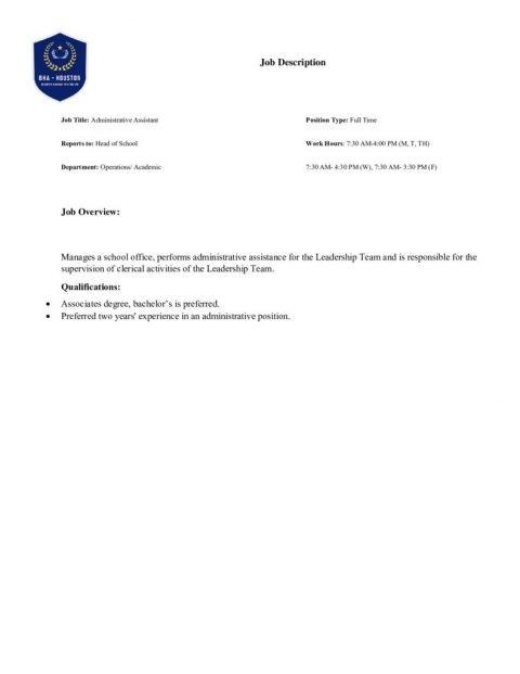 thumbnail of Administrative Assistant JD (BHA Houston)