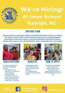 Come join the Al-Iman School Family!