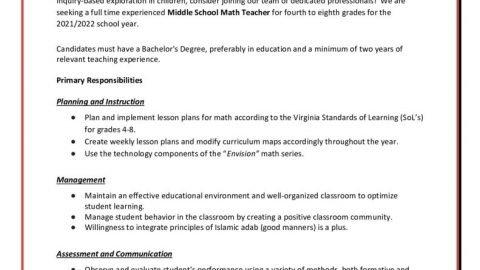 thumbnail of _Middle School Math Teacher for ISLA