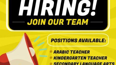 We're hiring job announcement